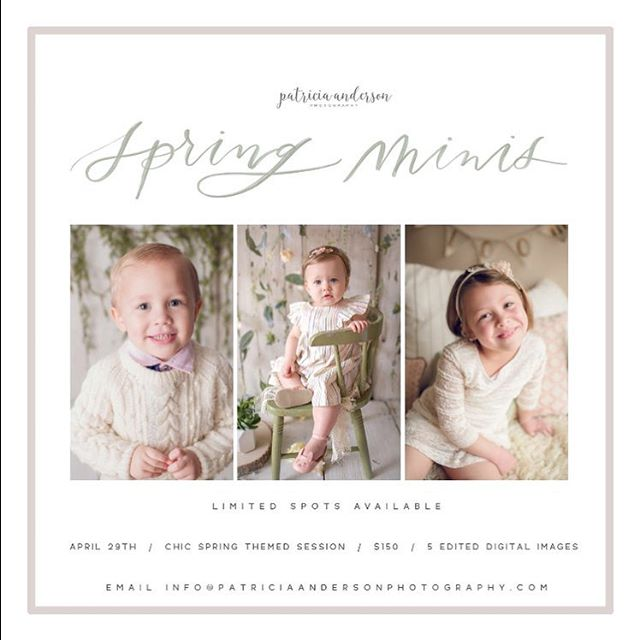 Spring Mini Sessions are NOW OPEN for bookings! Date Saturdayhellip